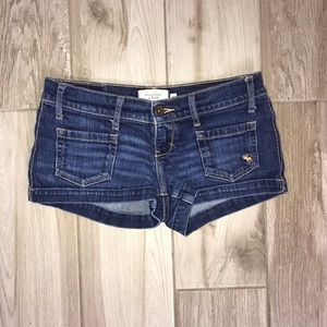 Abercrombie and Fitch Darkwash Jean Shorts